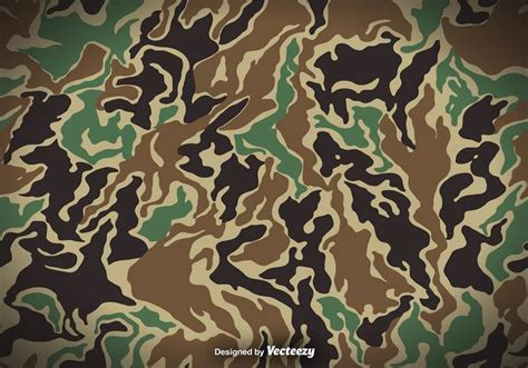 Camo Background Camouflage Vector Background Free Vector
