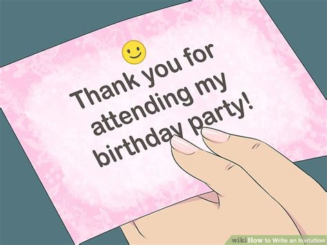 How to Write an Invitation (with Pictures) wikiHow