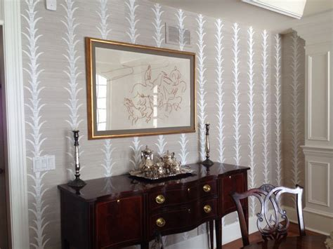 celerie kemble  schumacher grass cloth wallpaper