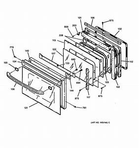 Assembly View For Oven Door