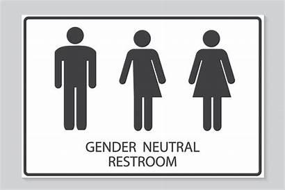 Gender Neutral Sign Bathroom Toilet Bathrooms Restroom