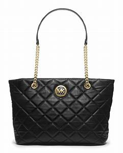 Lyst - Michael Kors Michael Large Fulton Quilted Tote in Black