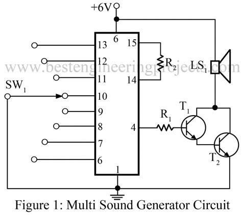 Multi Sound Generator Circuit Engineering Projects