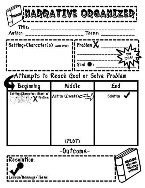 narrative text organizerpdf writing pinterest texts graphic organizers  graphics