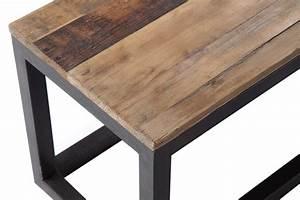 Table Et Banc En Bois : banc en bois et m tal industriel bc01 rose moore ~ Melissatoandfro.com Idées de Décoration