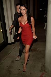 Jessica Lowndes in Red Mini Dress - Leaving Catch ...