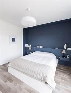 Tete De Lit Avec Tablette : cr er une tete de lit en peinture 20 inspirations canons ~ Teatrodelosmanantiales.com Idées de Décoration