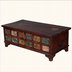 rustic reclaimed wood storage trunk coffee table hope With hope chest coffee table