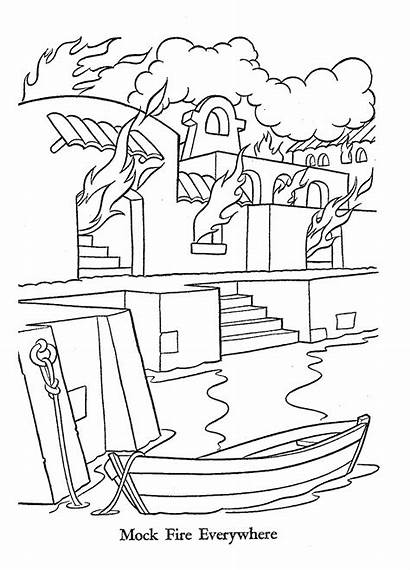 Disneyland Castle Coloring Pages Drawing Disney Rides