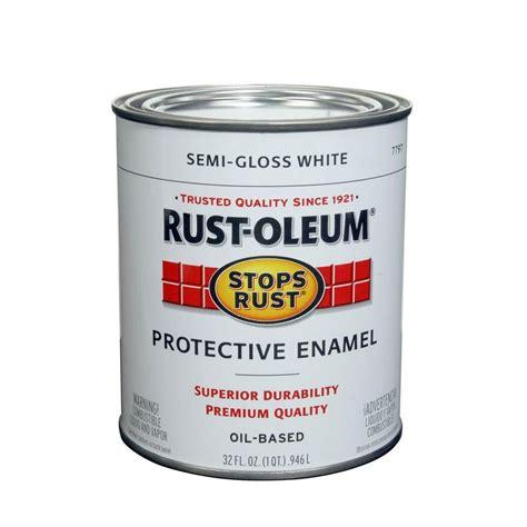 rust oleum quart paint colors buy the rust oleum 7797502 protective enamel white semi