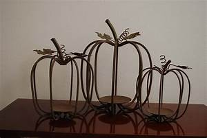 Wire, Pumpkins, Embellished, With, Ribbon