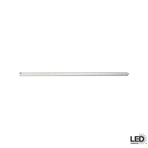 hton bay slim 24 in led silver dimmable