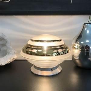 Lampe Globe Verre : lampe globe dor e en verre brocante et d co chic ~ Teatrodelosmanantiales.com Idées de Décoration