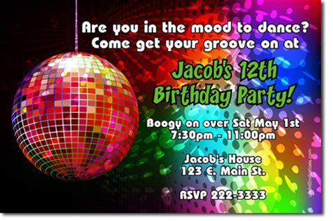 disco invitations dancing invitations  invitations