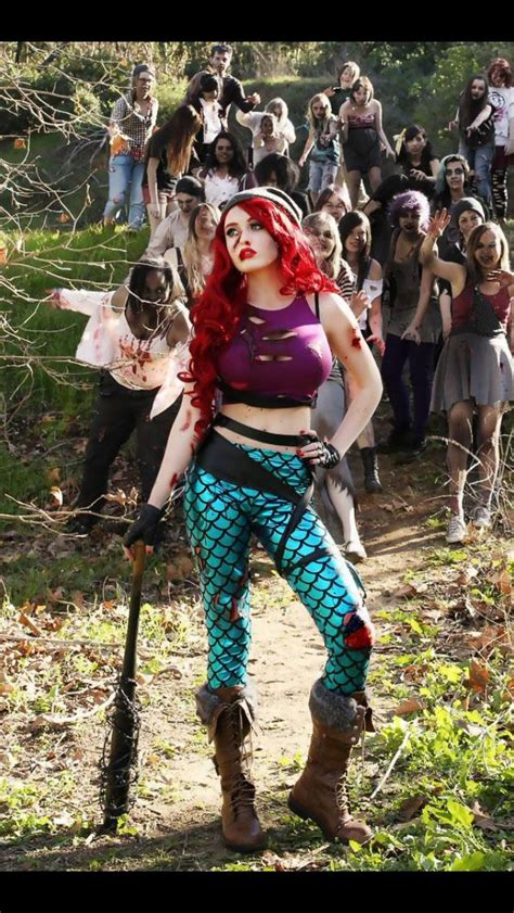 disney cosplay apocalypse costume ariel princess zombie zombies dead survivor walking diy costumes mermaid anime mike princesses dc tales fairy