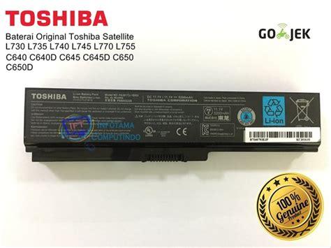 Harga Baterai Toshiba C640 jual baterai batre batery laptop toshiba l645 l745 c640 pa