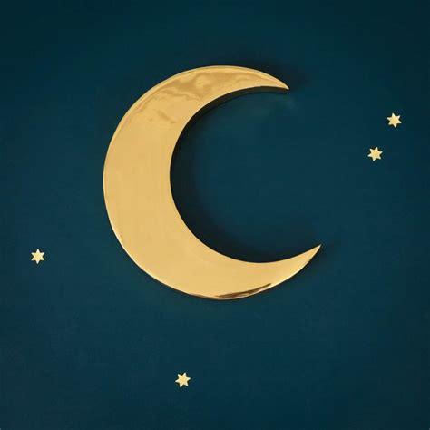 image deco chambre croissant de lune en cuivre le petit florilège enfants