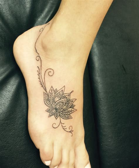 lotus flower foot tattoo tattoos tattoos flower