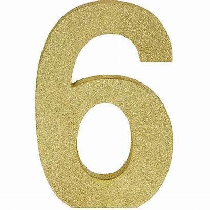 Number Glitter Gold Sign Icon Kit Signs