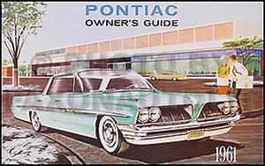 1961 Pontiac Owners Manual Bonneville Catalina Ventura