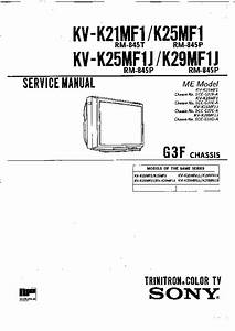 Sony Kv-k21mf1 Service Manual