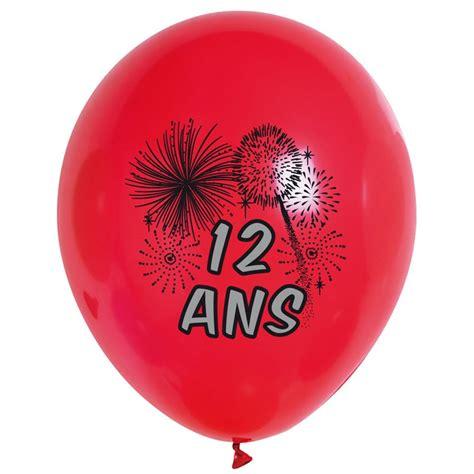 10 Ballons de Baudruche multicolore 12 ans