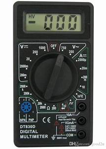 2018 Black Dt830d Digital Multimeter With Buzzer Voltage
