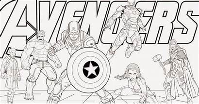 Avengers Marvel Coloring Heroes Drawing Draw Announces