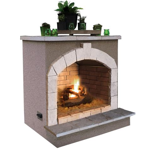 Cal Flame 48 In Propane Gas Outdoor Fireplacefrp90621