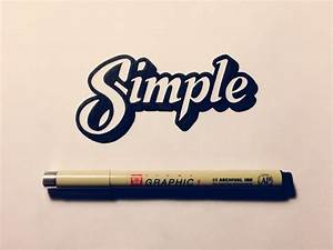 Simple | hand lettering by seanwes  Simple
