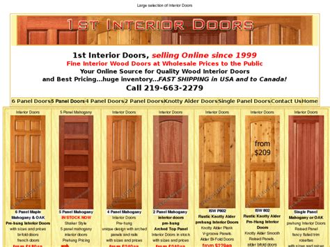 Five Panel Mission Doors For Sale In Indianapolis