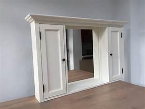 Badezimmer Im Landhausstil : spiegelschrank wei massivholz badezimmer spiegel wei im landhausstil ma e 131 x 80 cm ~ Sanjose-hotels-ca.com Haus und Dekorationen