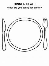 Preschool Coloring Worksheets Plate Dinner Thanksgiving Drawing Sheets Printable Draw Worksheet Happy Template Activity Colouring Activities Cooking Breakfast Meal Plates sketch template