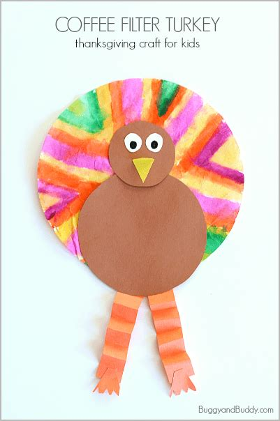 easy thanksgiving crafts for coffee filter turkey 888 | cft header