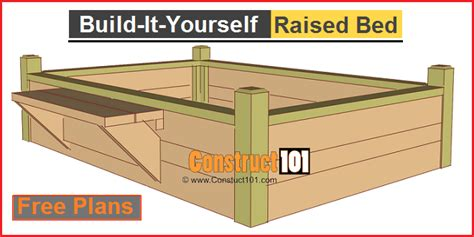 raised garden bed plans  bench construct