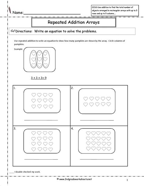 worksheets multiplication as repeated addition hojas de