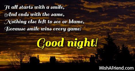 starts   smile  good night message