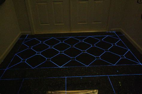 front entry foyer with glow in the grout eclectic