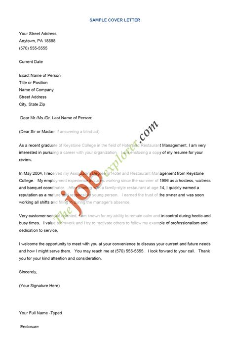 resume cover letter for employment http www