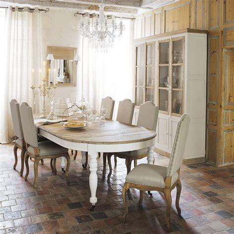 gallery  table de salle manger rallonges  roulettes en bois  cm provence  maison du