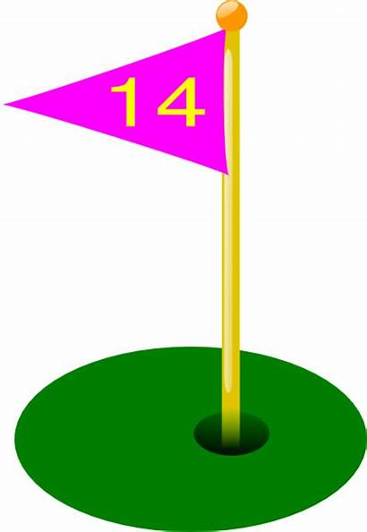 Golf Hole Flag Clip 6th 11th 15th