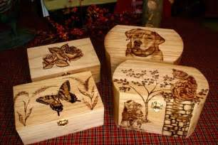 Wood-Burning Patterns for Boxes