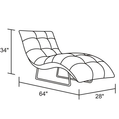 dimension chaise ace leather chrome chaise lounge black zuri furniture