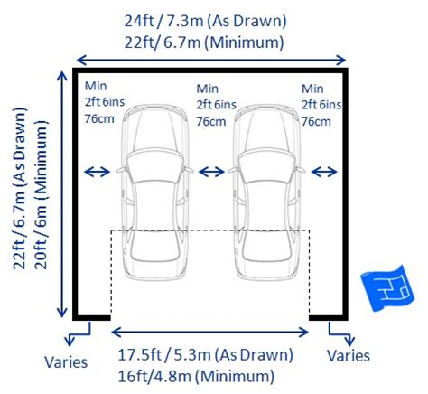 how wide is a typical car garage dimensions