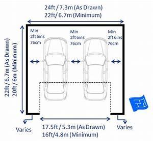 Garage dimensions for Largeur porte garage double