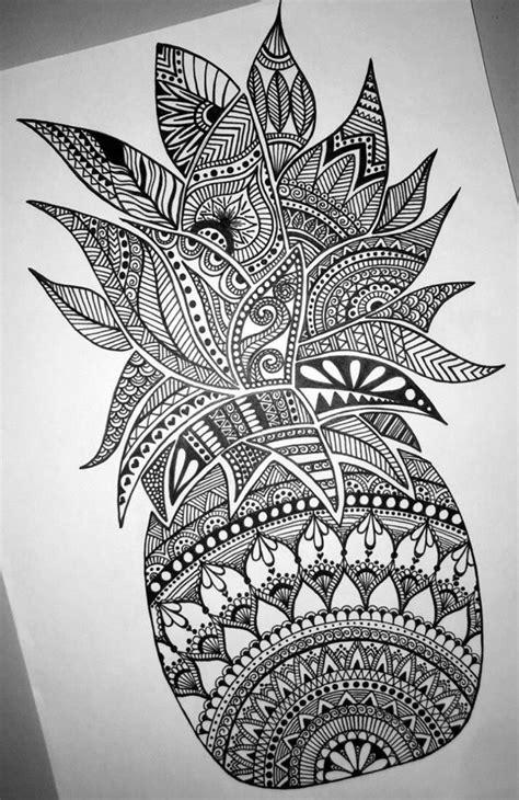 Beautiful detailed pineapple mandala design-- perfect for