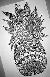 Beautiful detailed pineapple mandala design-- perfect for ...