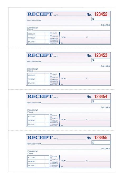tops money receipt book  part carbonless pg  stbk