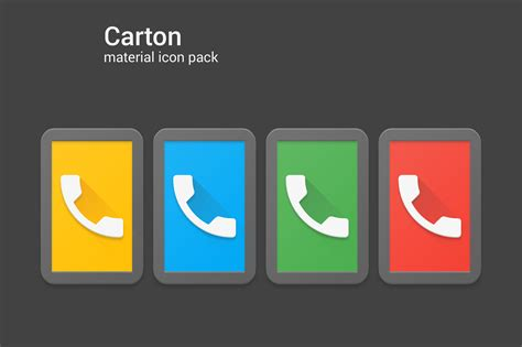 Carton - Material Phone Icons - Uplabs