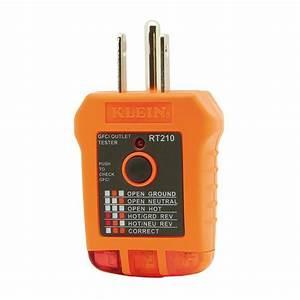 Klein Orange Manual  Analog Gfci Receptacle Tester